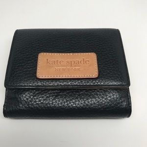 Kate spade wallet small Black and Tan